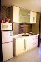 上海 中山公園近くのサービスアパートメント画像(キッチン)